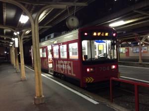 空前見かけた阪堺電車の『あびこ道』行き。後で調べたら目的地と真逆行きだった(^^;;