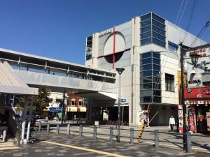 阪急の今津駅。阪急今津線のターミナル。