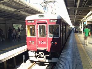 阪急今津(北)線の『宝塚行き』。7000系ロングシートの6両編成。